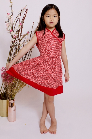 Kei in Apple Red (Little Girl)