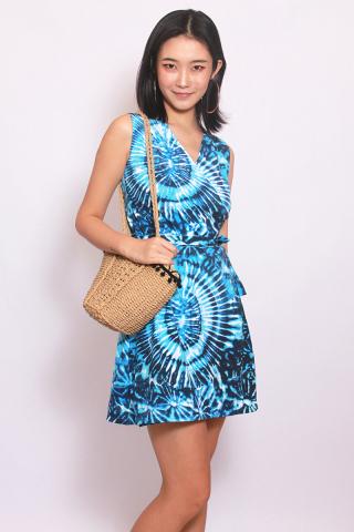 Take Me to the Beach Wrap - Blue Tie Dye