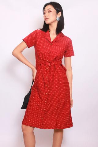 Faye in Red (Midi) - Easycare