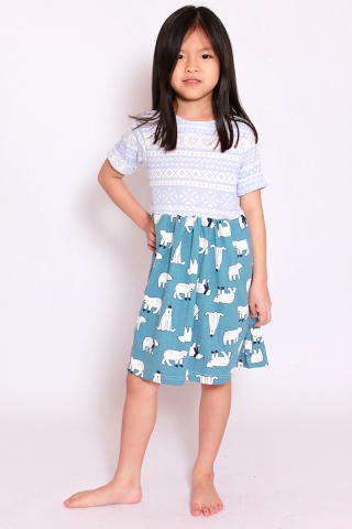 I See a Polar Bear Dress (Little Girl)