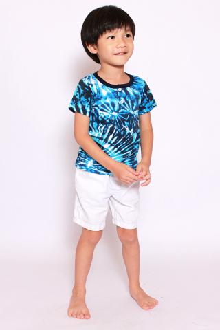 Take Me to the Beach Tee - Blue Tie Dye (Little Boy)