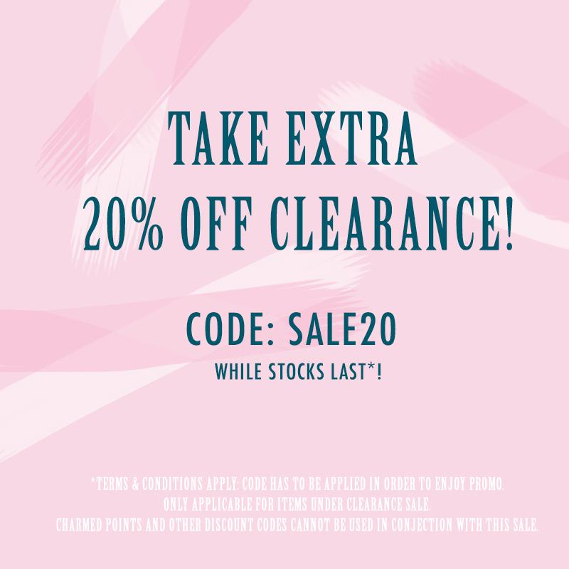 TAKE 20% OFF CLEARANCE