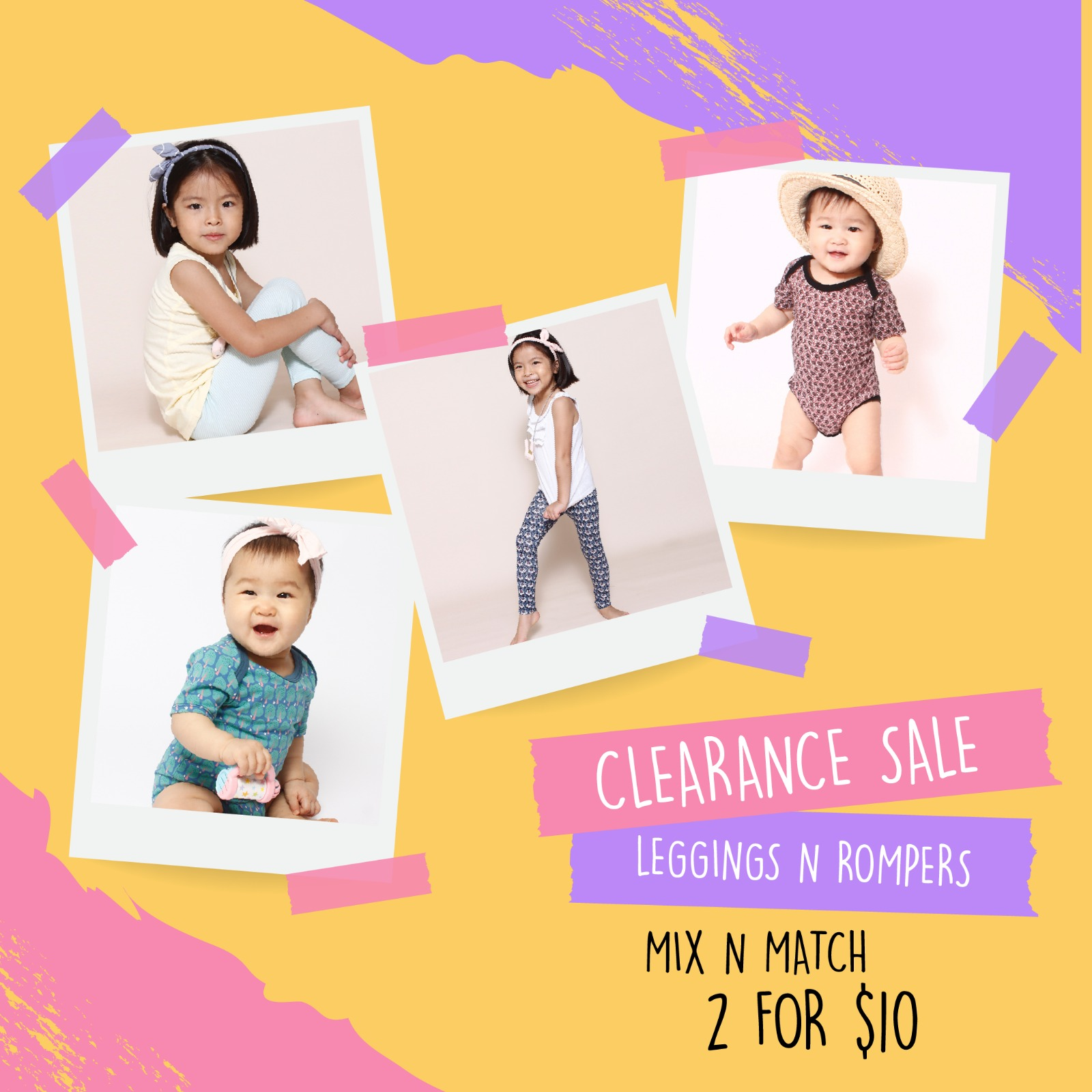 2 for $10 Rompers and Leggings