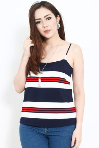 Antoinette Top In Nautical Red
