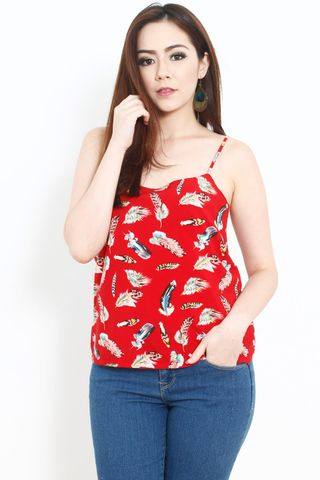 Antoinette Top In Mardi Gras Red