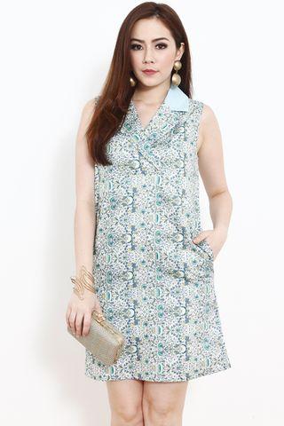 Jade Vines Shift Dress