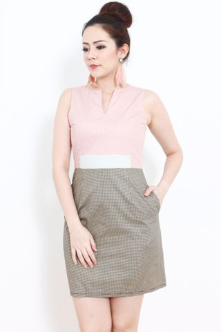 Bella Sheath in Vintage Checks