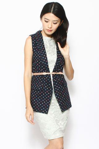 Vera Vest in Popping Dots