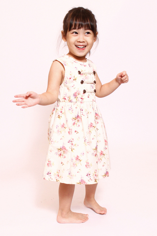 Delicate Military in Sweet Rose (Little Girl Charm)