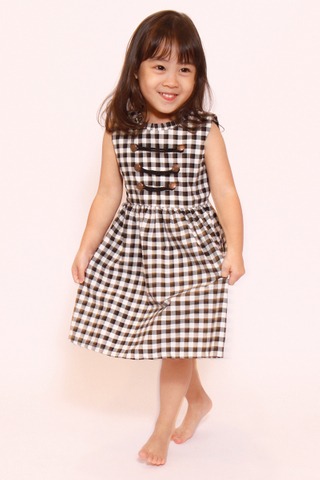 Delicate Military in Gingham (Little Girl Charm)