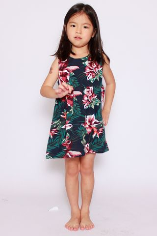 PlayDate | Honolulu Dress in Black (Little Girl)