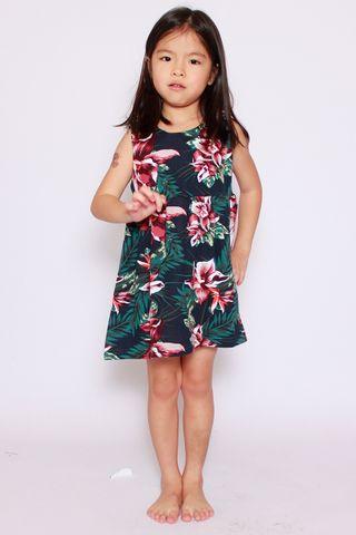 PlayDate | Honolulu Dress in Black (Little Girl)