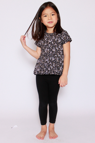 PlayDate | Galaxy Blossom Peplum Top (Little Girl)