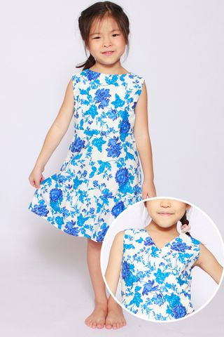 Mandiana Reversible Dress in Positano (Little Charm Girl)