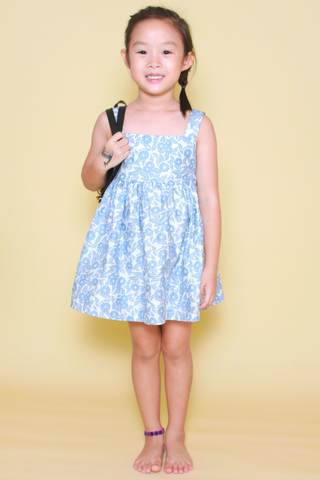Audrey Dress in Floral Art (Little Girl)