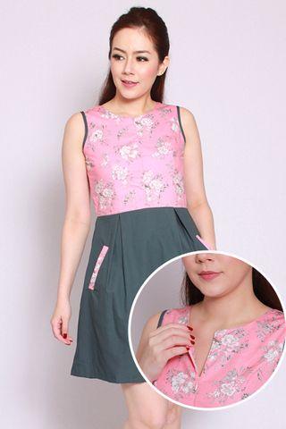 Mera Flair Dress in Pink