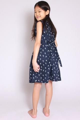 Mera Flair Dress in Blue (Little Girl)