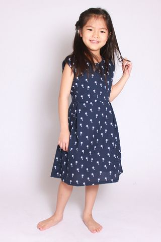 Mera Flair Dress in Blue (Little Girl)