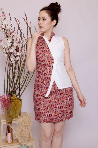 Lebaya Shimmer Skirt in Red