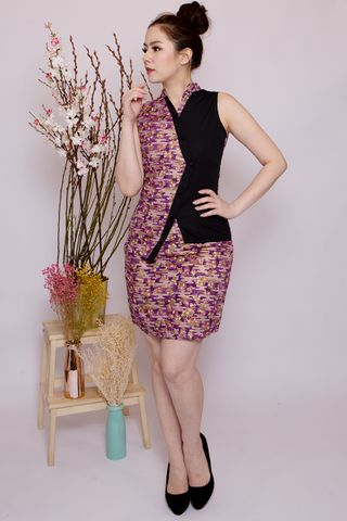 Lebaya Shimmer Skirt in Purple