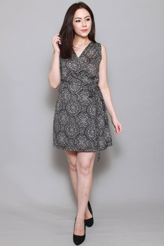 Playdate | Mosaic Tile Wrap Dress