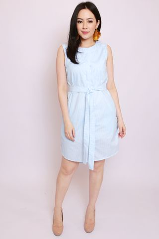 Heidi Shirtdress in Sky Stripes (Tall)