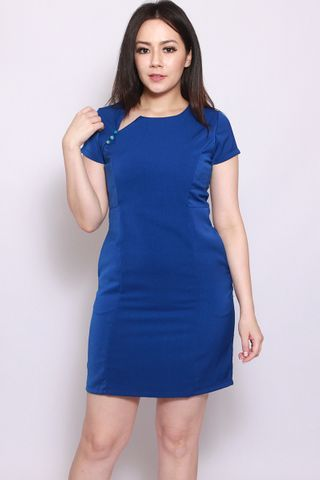 Martini Shift Dress in Cobalt