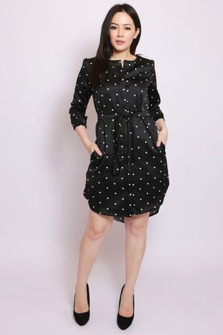 Isobel Shirtdress in Black (Tall)