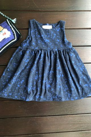 PlayDate | Blue Splatter Dress (Little Girl)