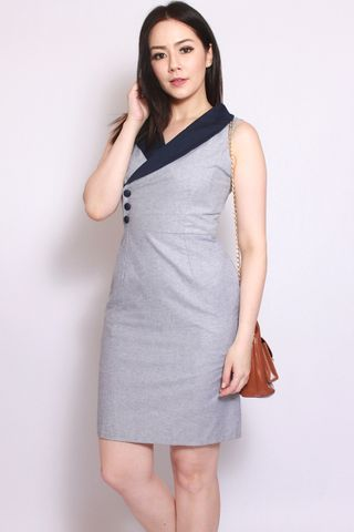 Wanda Vintage Shift in Grey