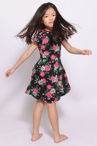 PlayDate | Midnight Interstella Little Girl Dress