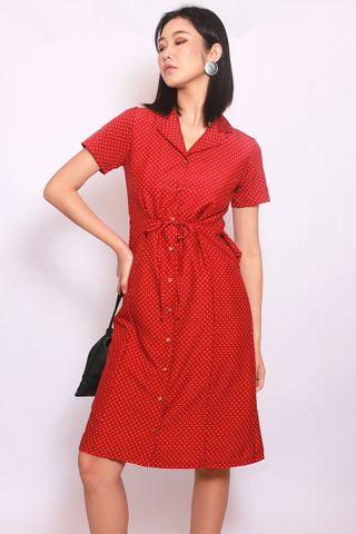 Faye in Red (Midi) - Easycare
