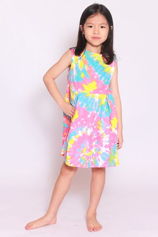 Take Me to the Beach Dress - Candy Tie Dye (Little Girl)