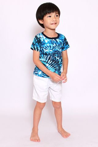 Take Me to the Beach Tee - Blue Tie Dye (Little Boy)