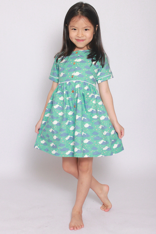 Makena Dress in Dream Clouds (Little Girl)