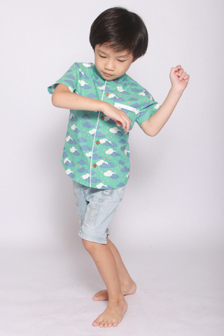 Makena Shirt in Dream Clouds (Little Boy)
