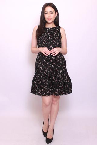 Sofia Dropwaist in Black Beauty (Tall) - Easycare