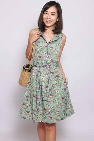 Lillie Vintage Green (Tall) - Easycare