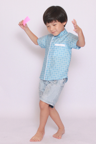 Poppin Mosaic Shirt (Little Boy)