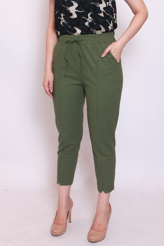 Charlotteton Pants in Vintage Green