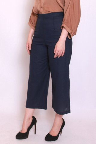 Wide Leg Culottes in Navy