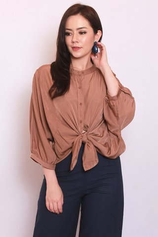 Lana Batwing Top in Nude