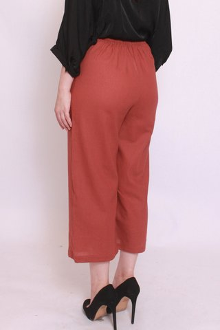Wide Leg Culottes in Rust