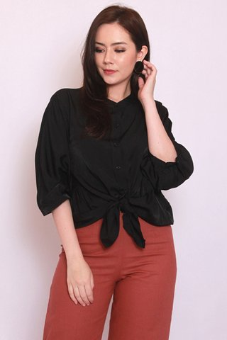 Lana Batwing Top in Black