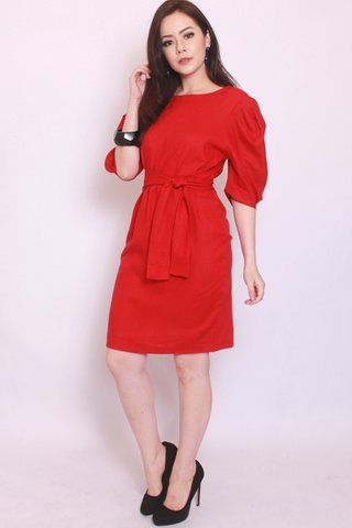 Catherine Puff Sleeves In Red