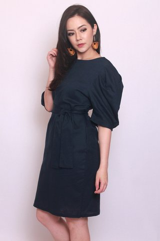 Catherine Puff Sleeves In Navy