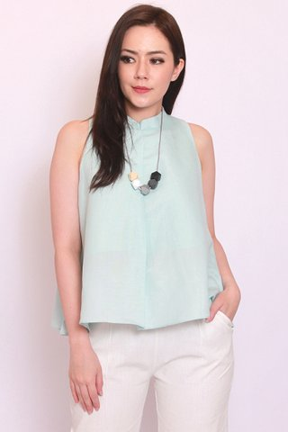 Oxana Swing Top in Mint - Lux Soft Linen