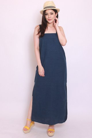Luana Linen in Dark Wash (Maxi)