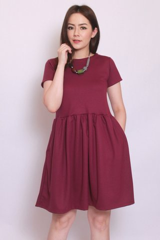 Sadie Dress in Burgundy