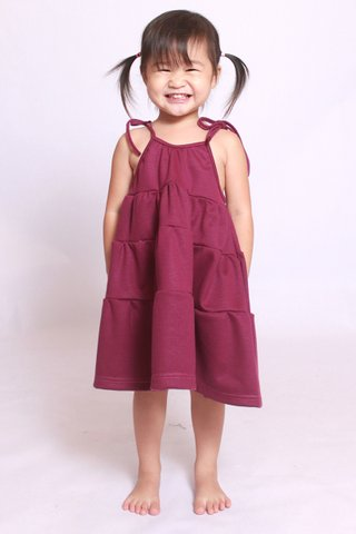 Sadie Dress in Burgundy (Girls)